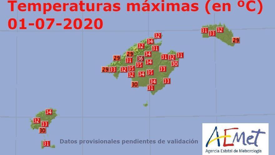 Nach dem bisher heißesten Mallorca-Tag des Jahres kühlt es etwas ab
