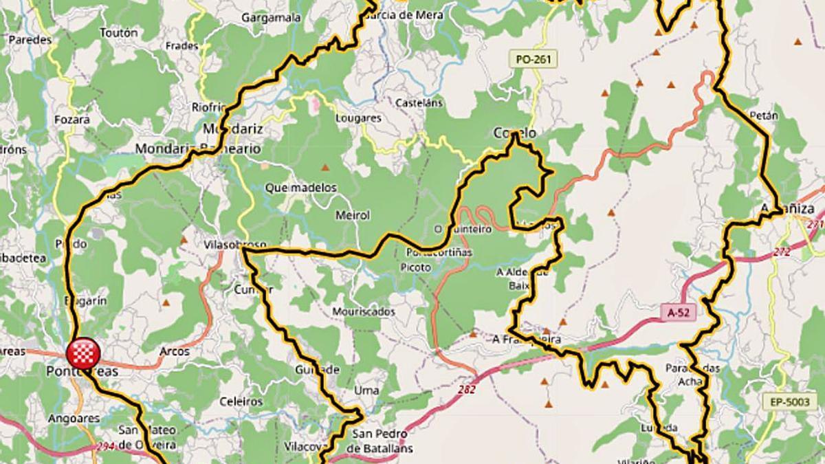 Percorrido de 110 quilómetros por sete concellos do Condado-Paradanta.  | // FDV
