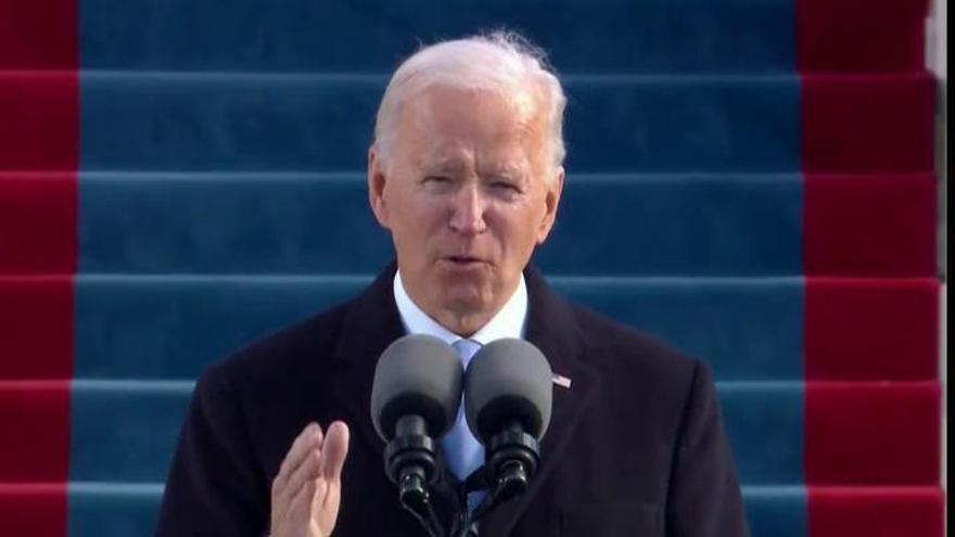 """Biden defiende """"la verdad"""" como emblema de su nuevo gobierno"""