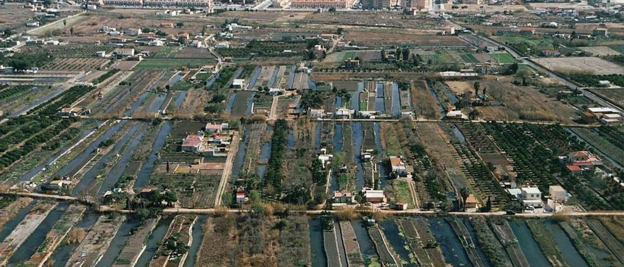 Una imagen aérea de la Marjaleria de Castelló.