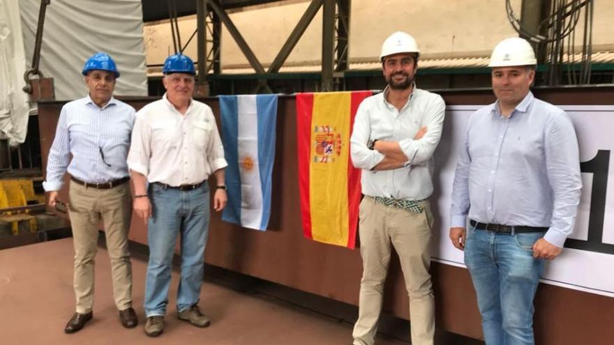 Armón Vigo celebra la puesta de quilla del nuevo contrato para Argentina