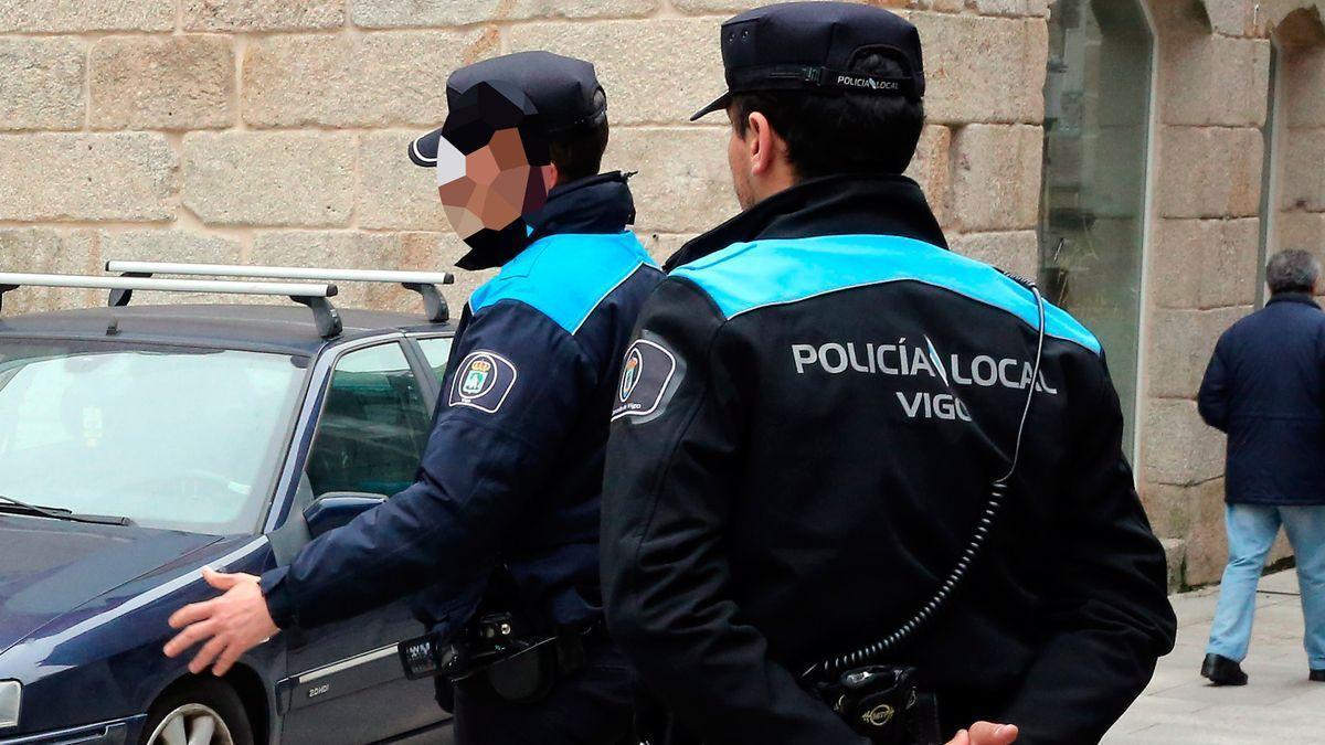 Agentes de la Policía Local de Vigo, en una imagen de archivo.