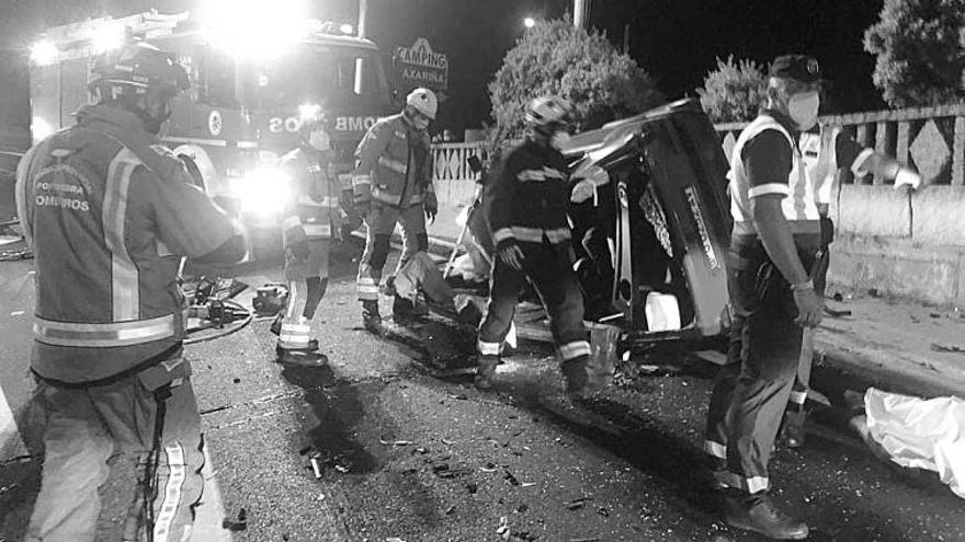 Fallece un joven vilagarciano en un accidente de madrugada en Sanxenxo