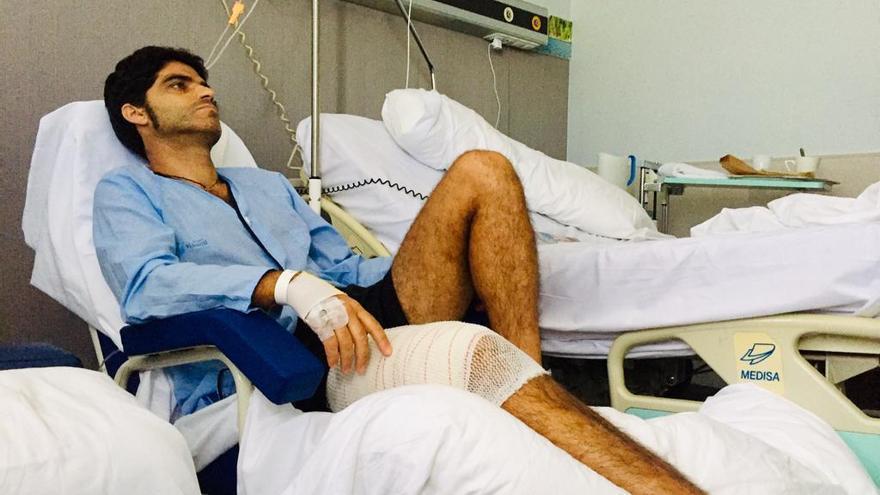 El banderillero zamorano Javier Gómez se recupera de su cornada de 30 céntimetros
