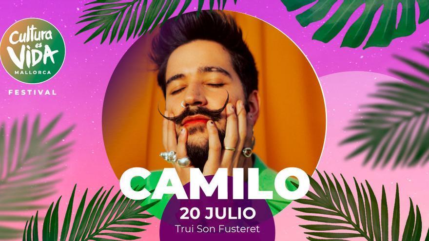 Camilo actuará este verano en Palma en el festival Cultura es Vida Mallorca