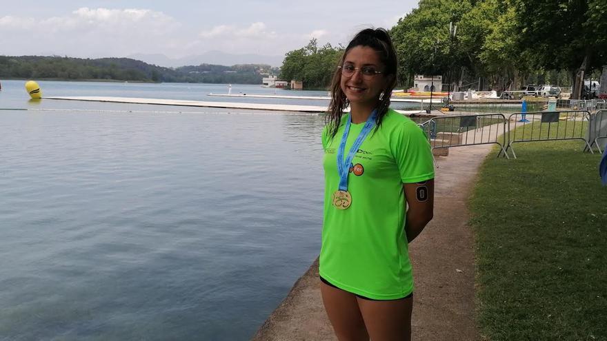 Alba Herrero se proclama campeona de España júnior de aguas abiertas