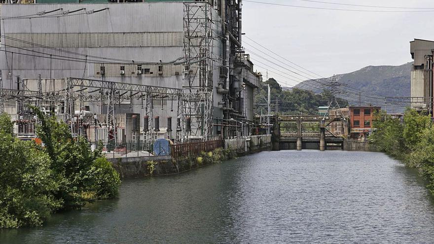 Langreo reclama a Iberdrola que facilite la práctica del piragüismo en el río Nalón en Lada