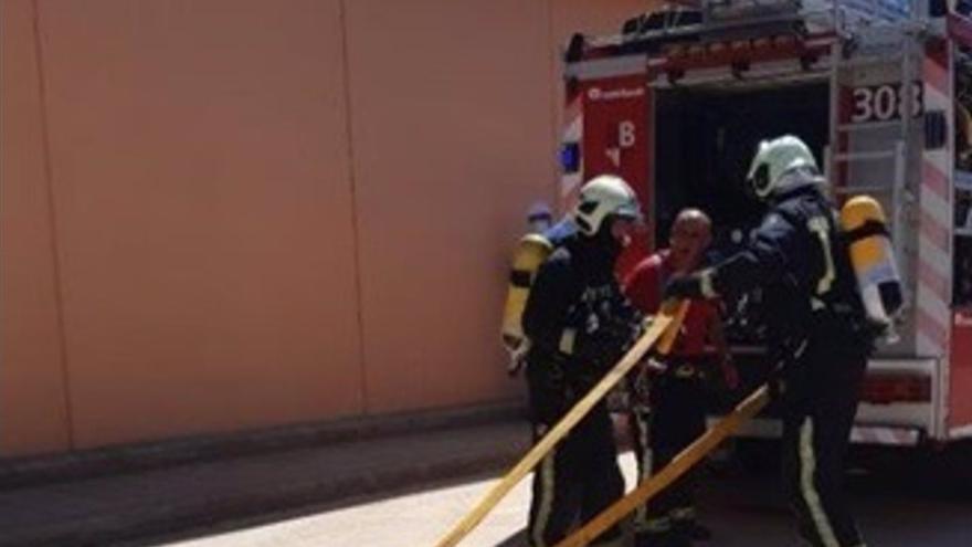 Endesa realiza un simulacro de emergencia de incendio en la subestación de Cala Blava