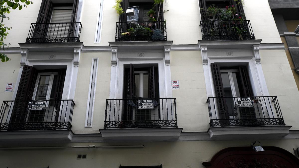 Una vivienda en venta en una imagen de archivo.