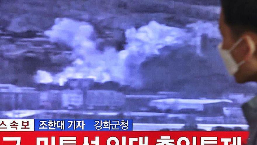 Corea del Norte destruye la oficina de enlace de comunicación con Seúl