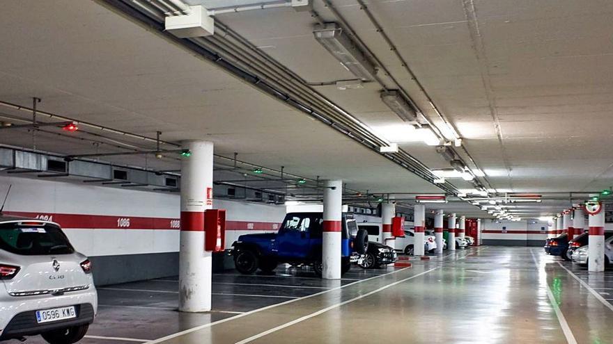 Los aparcamientos municipales de Palma perdieron casi un tercio de sus usuarios en 2020