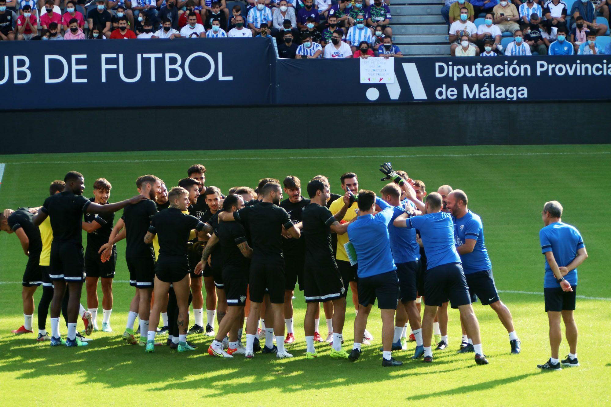 Entrenamiento a puerta abierta del Málaga CF