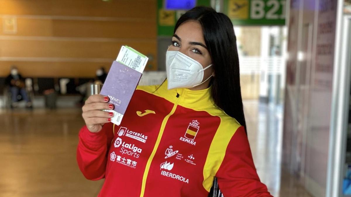 María Torres, antes de viajar a la Premier League de Estambul, en marzo.