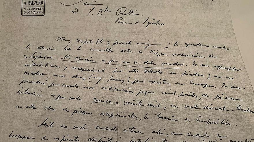 La carta inédita de Antonio Palacios para salvar una talla medieval en Seixalbo, en 1930