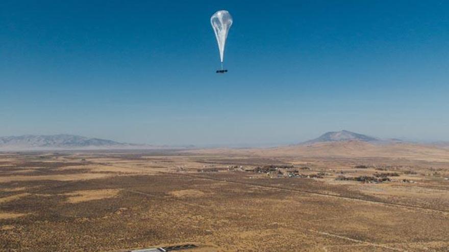 Un globo de Google sobrevuela Canarias