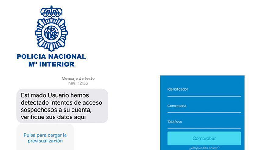 La Policía alerta de una modalidad de fraude bancario mediante SMS y llamadas telefónicas