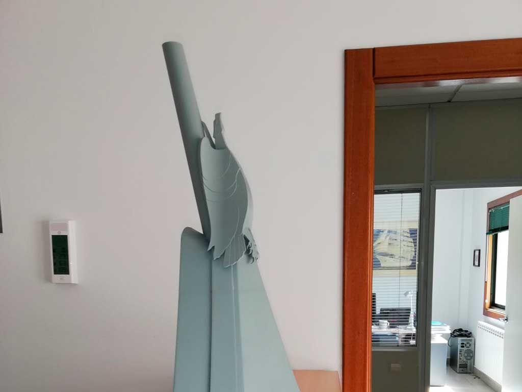 Proa y mascarón impresos en 3D