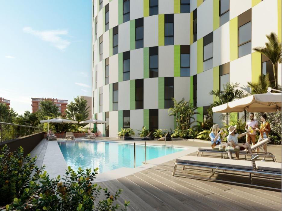 El nuevo hotel en la playa de la Patacona tendrá piscina exterior.