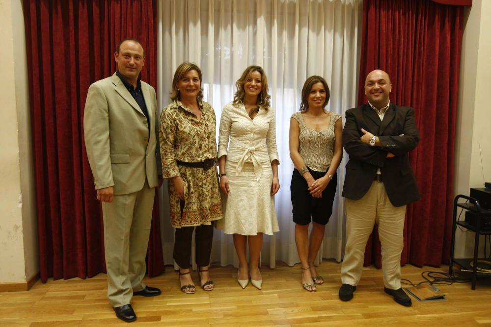 Corte 2008. El jurado de mayores, con Algarra, Cotino, Gueguel, Pilar y Ruth.
