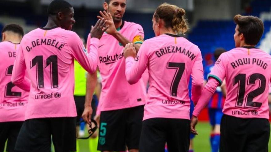 Griezmann rescata el Barça en un partit contra l'Eibar sense història