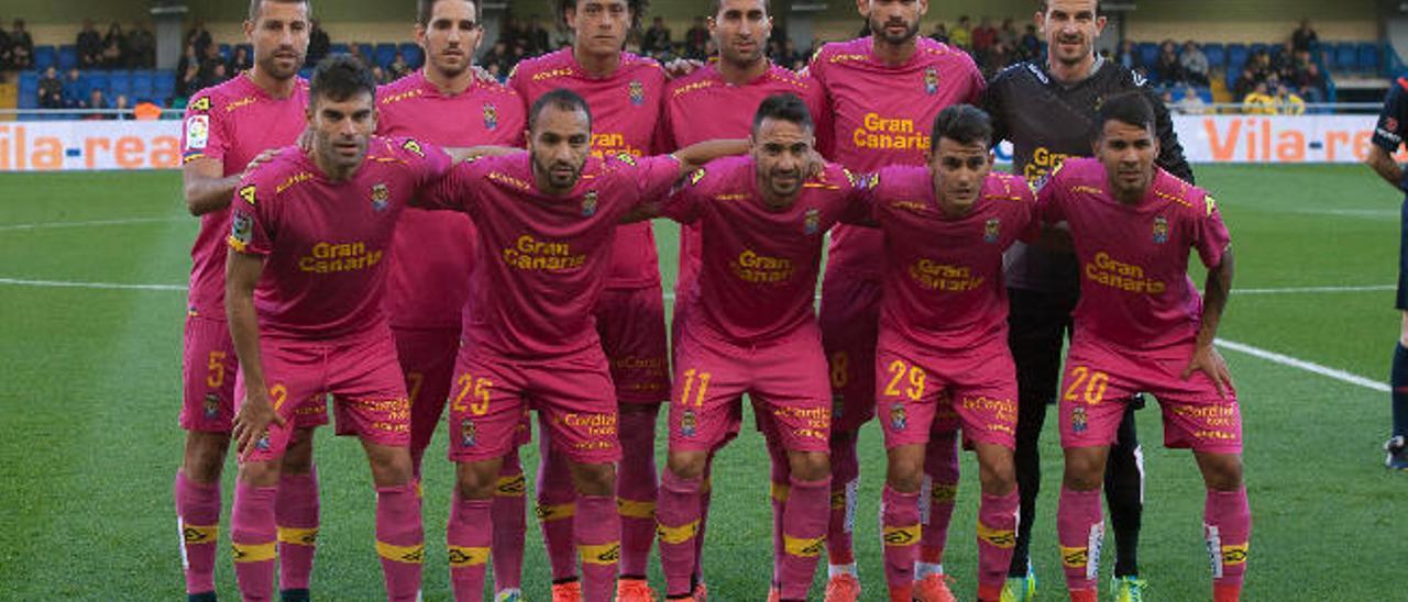 Alineación de la UD Las Palmas en el partido contra el Villarreal del pasado sábado.