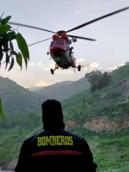 Rescate de un senderista en la Presa Barranco del Pintor