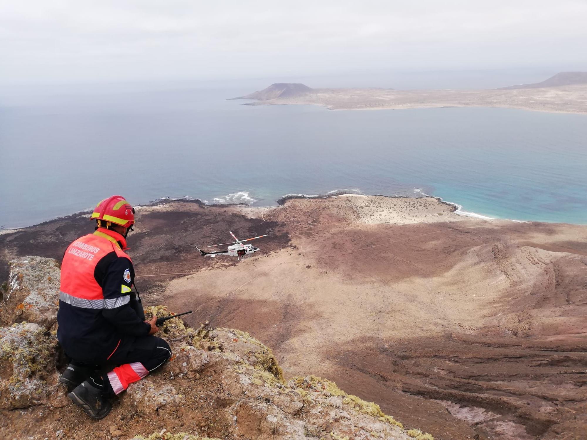Rescate de un cuerpo en Camino Las Rositas, Haría