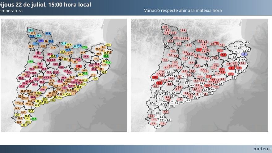 Calor extrema al Bages: els termòmetres s'enfilen fins a tocar els 40 ºC