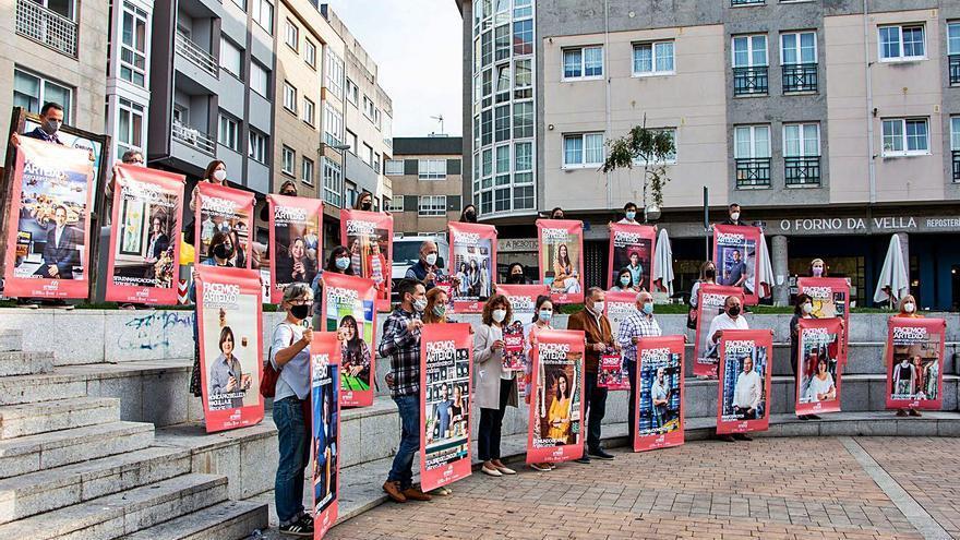 Más de 40 hosteleros y comerciantes ponen su rostro para fomentar la recuperación en Arteixo