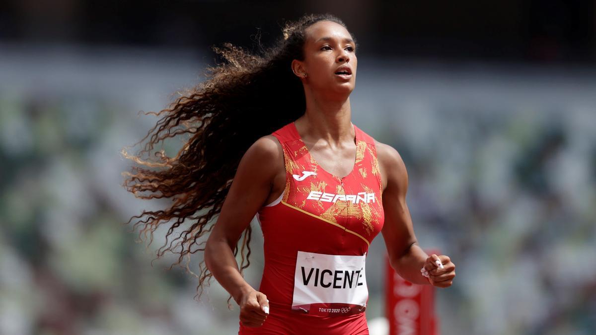 María Vicente comenzó el heptatlón con 13.44 en 100 m vallas.