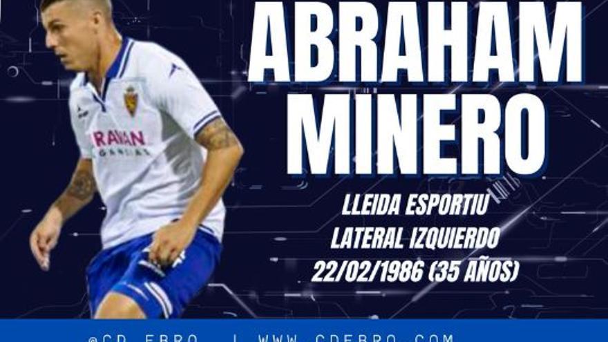 El exzaragocista Abraham Minero ficha por el Ebro