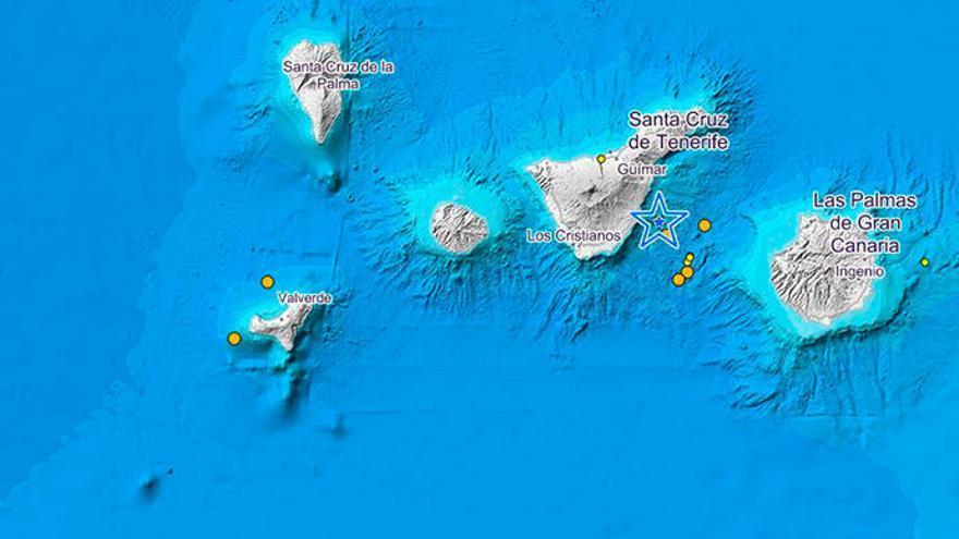Terremoto de 2,8 grados en El Hierro y enjambre sísmico en el volcán de Enmedio