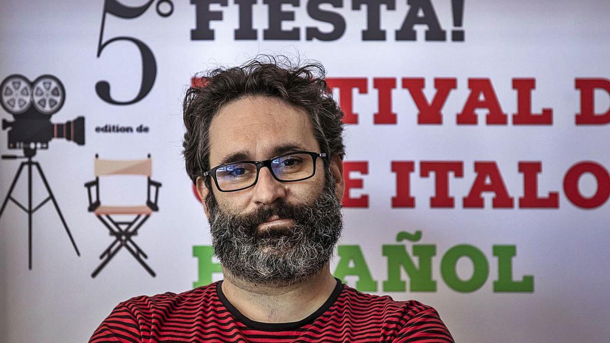 El director de cine Carlos Therón, ayer en Palma.