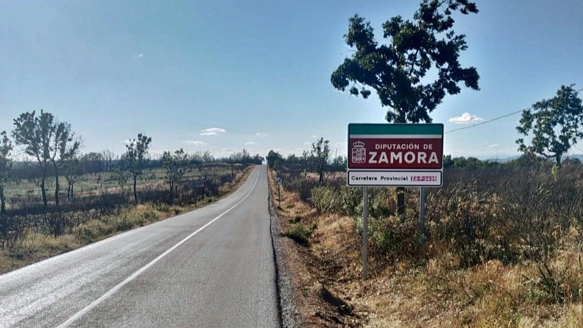 Estado actual de la carretera de Lober, una vez concluidas las obras. | Chany Sebastián
