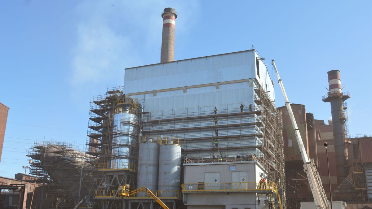Factoría de ArcelorMittal en Gijón.