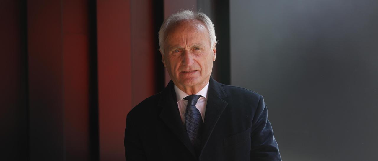Sabino López, ayer en LA NUEVA ESPAÑA