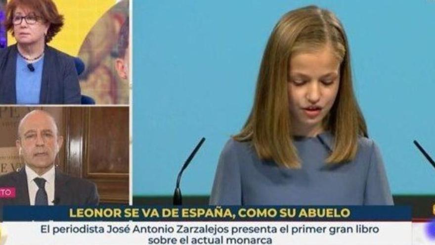 TVE inclou el rètol «Leonor se'n va d'Espanya, com el seu avi» en el programa 'La Hora de La 1'