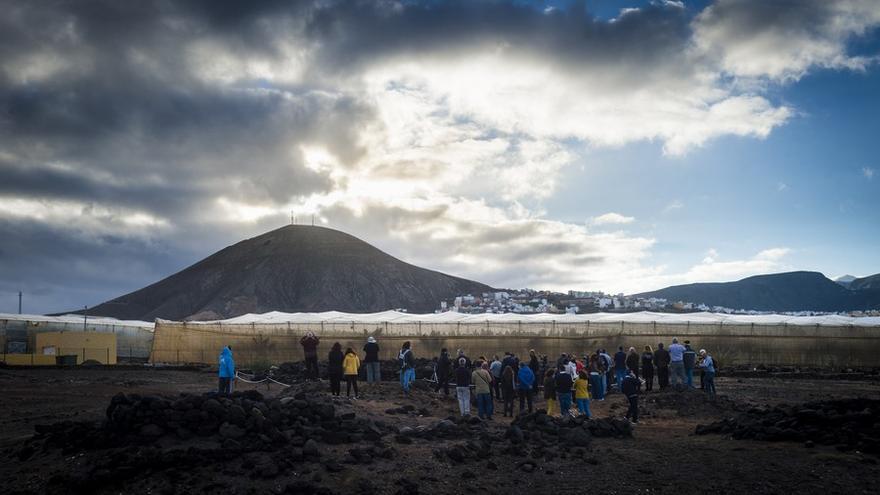 Solsticio de invierno desde La Guancha y presentación del proyecto para el yacimiento