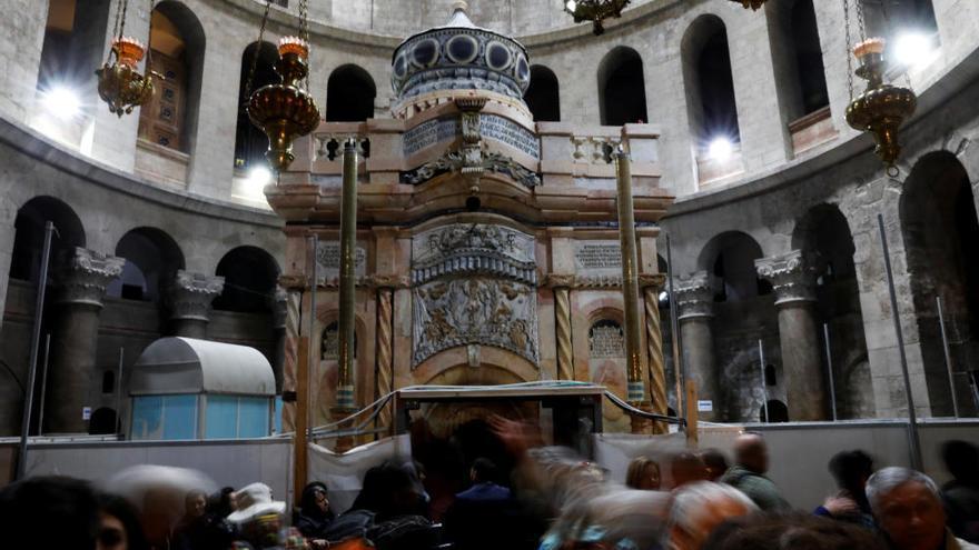 Finaliza la restauración de la Tumba de Jesucristo