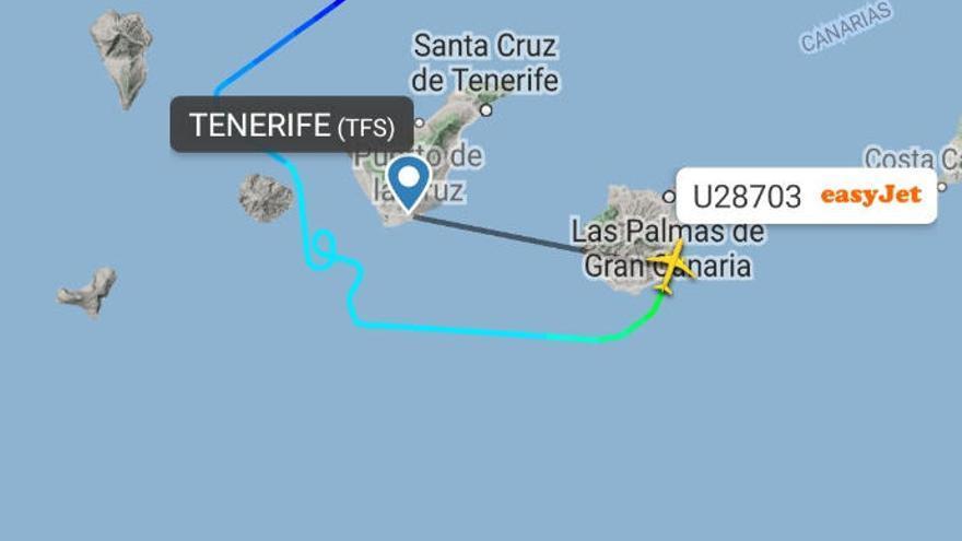 Varios vuelos se desvían a Gran Canaria por el mal tiempo en el sur de Tenerife
