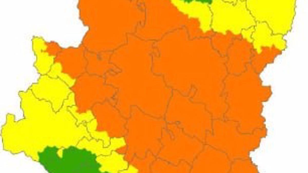 Alerta naranja de peligro de incendios forestales en diversas zonas de Aragón.