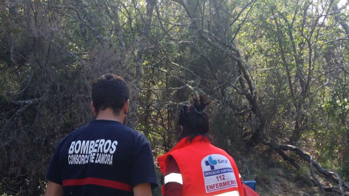 Bomberos y sanitarios de Sanabria realizan un rescate en Sotillo