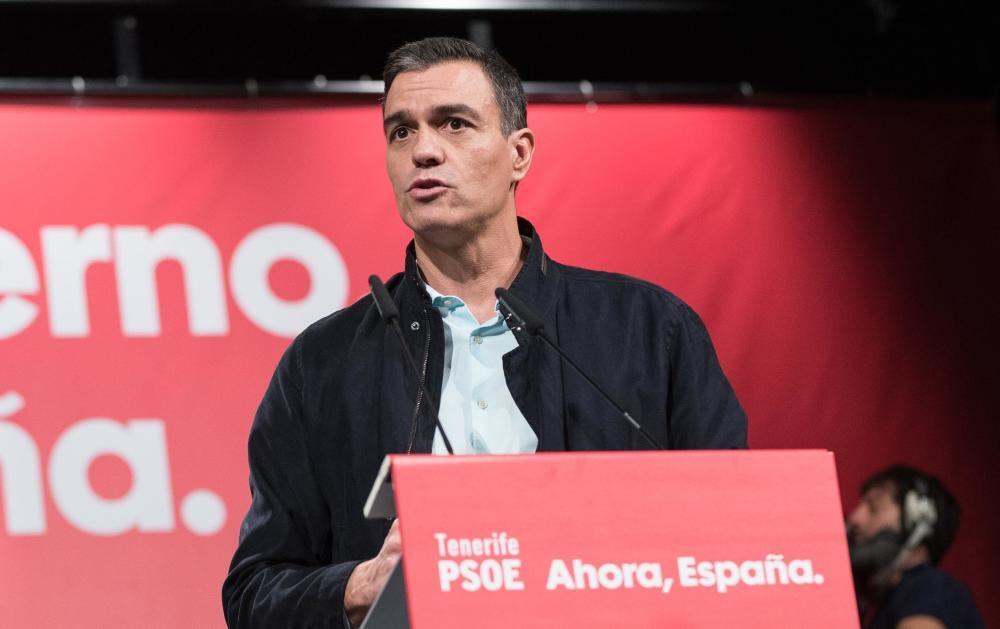 Mitin de Pedro Sánchez en Tenerife