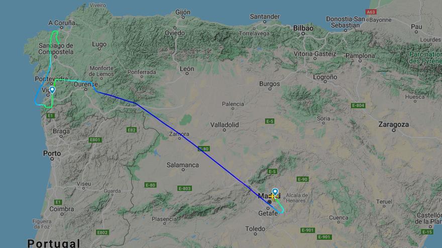 Borrasca en Vigo: Desviado un vuelo de Peinador y suspendido el transporte de ría