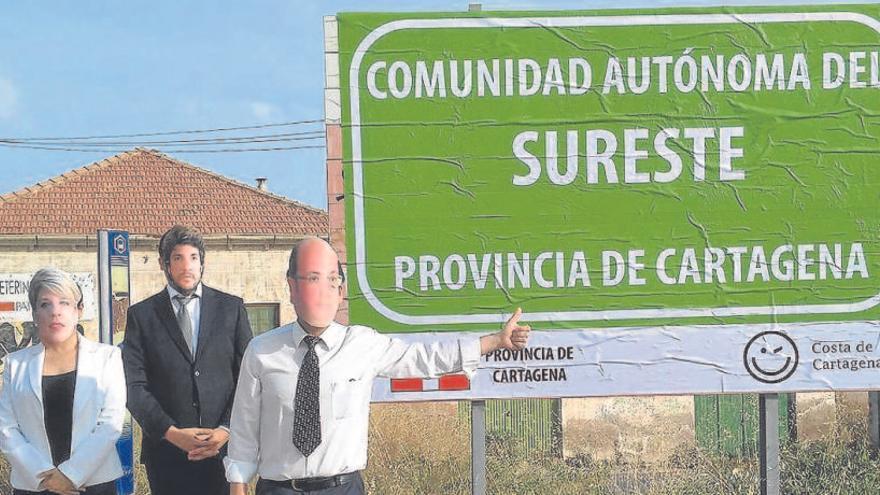 La provincia de Cartagena llega en forma de parodia con cartel incluido