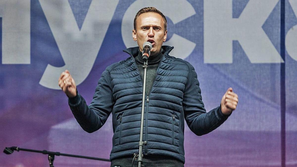 Alexei Navalni, durant un acte en una foto d'arxiu.