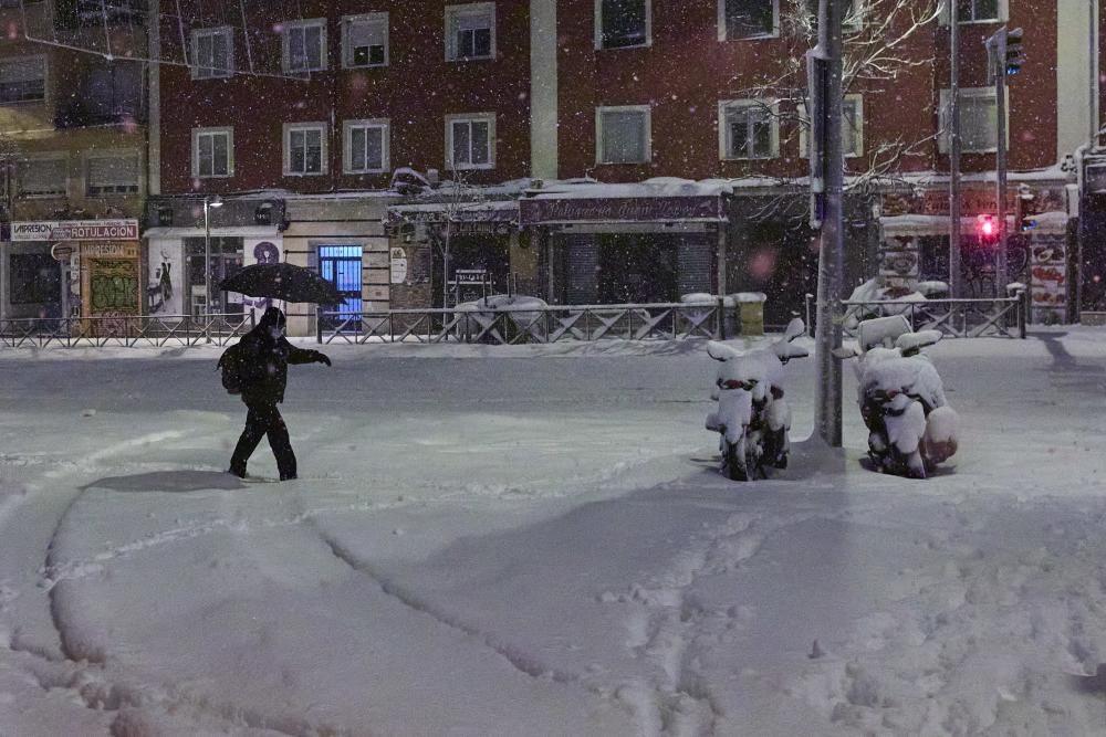La gran nevada a Madrid aquest 9 de gener del 2021