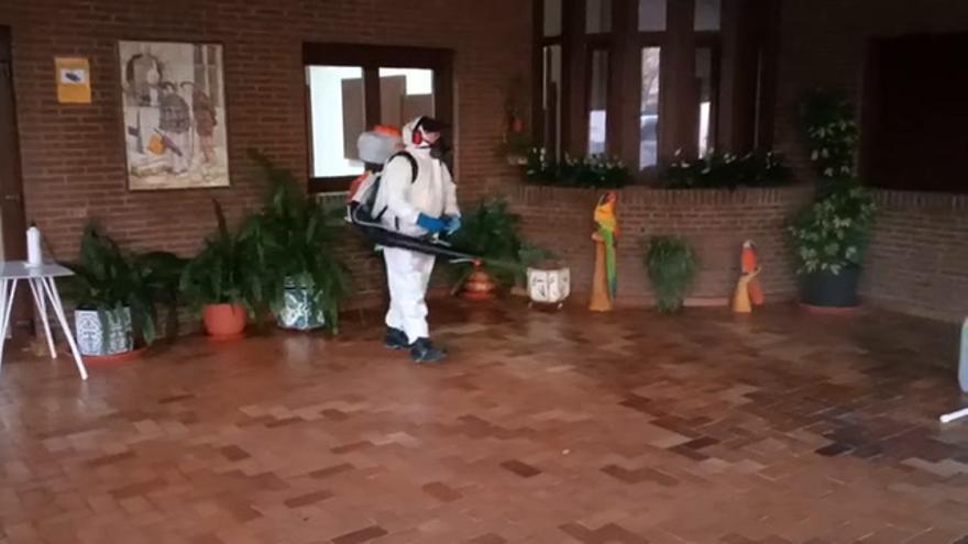 Desinfección en las residencias de mayores de Plasencia