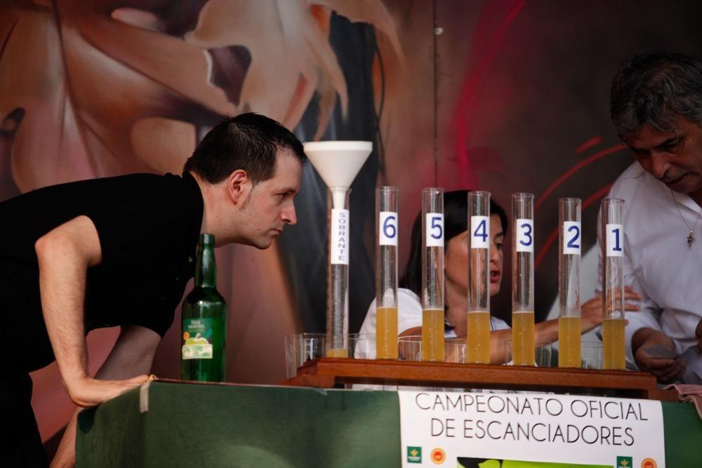 Concurso de escanciado de Gijón