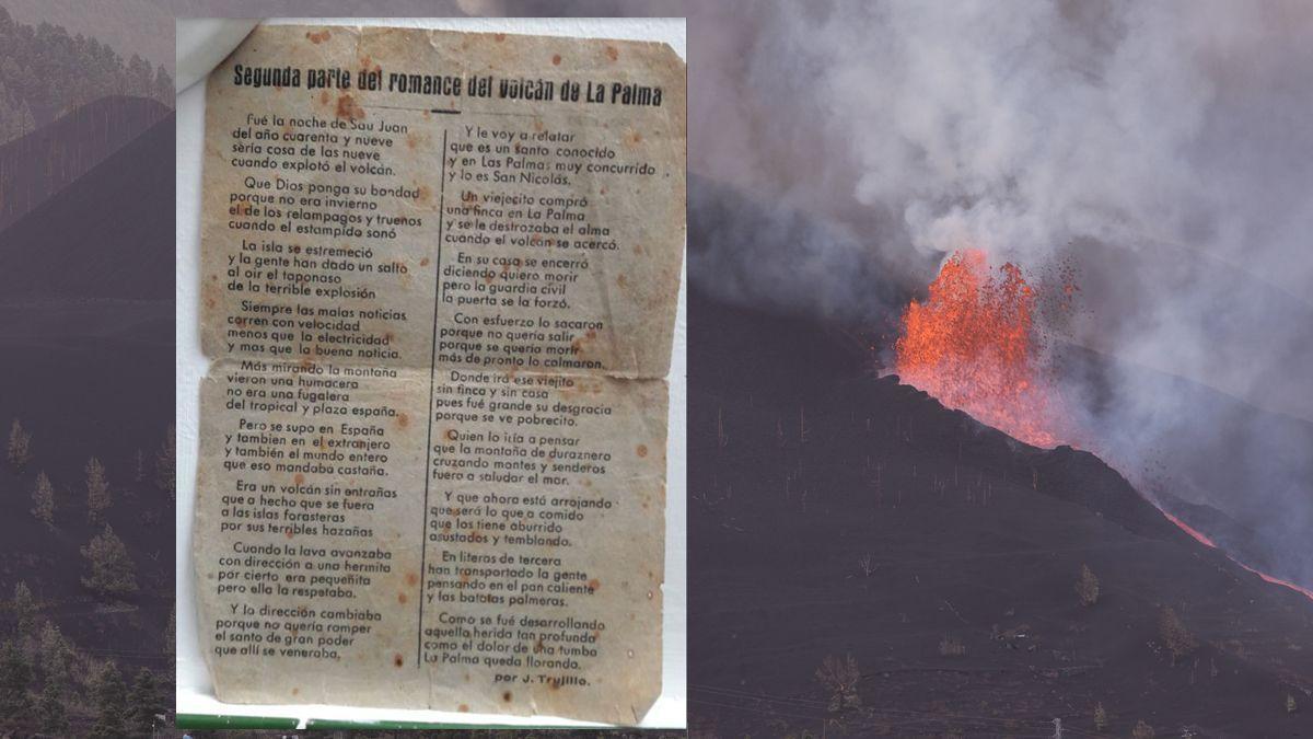 Romances al salir de misa: así se informó del volcán de La Palma en 1949.